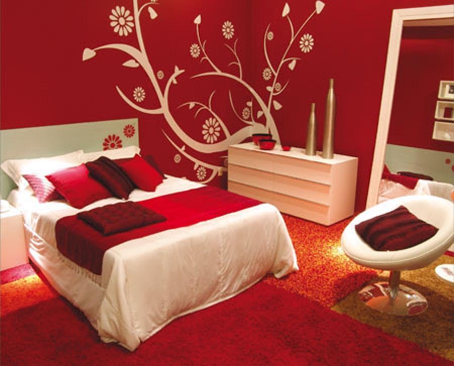 Дизайн комнат в красных тонах